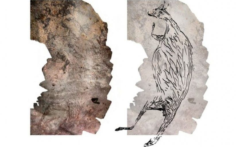 Australia: Oldest rock art is 17,300-year-old kangaroo
